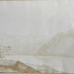 Vista del lago de Ginebra (?) (Suiza)