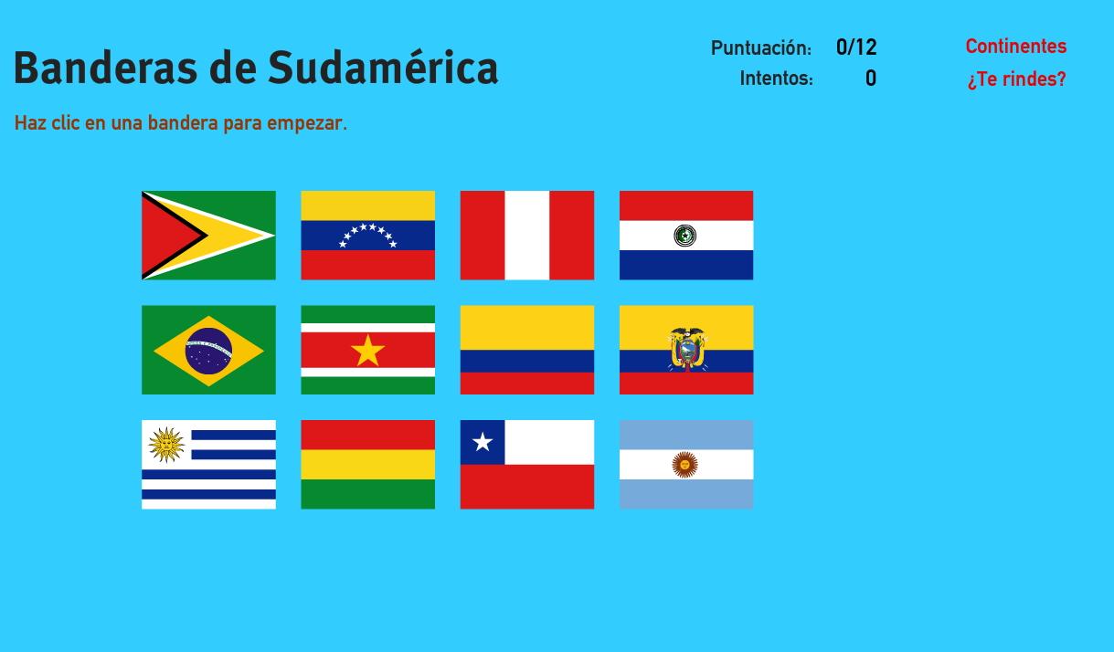 Mapa Interactivo De Sudamérica Banderas De Sudamérica Juegos De Geografía Mapas Interactivos