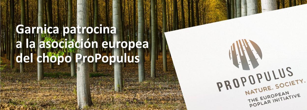 Garnica, patrocinador de la asociación europea del chopo ProPopulus