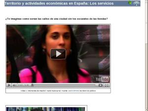 Territorio y actividades económicas en España: Los servicios