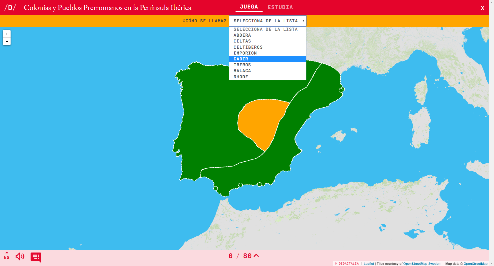 Hauptstädte und vorrömische Völker auf der Iberischen Halbinsel