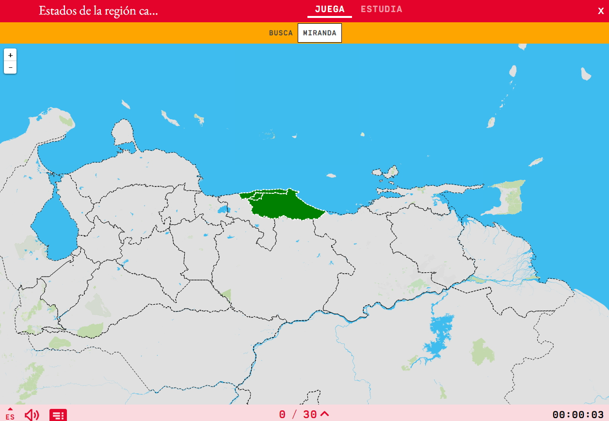 States of the region capital of Venezuela