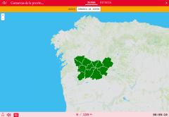 Regionen von Ourensen