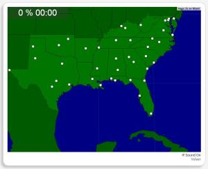 EUA: Cidades no Sul. Seterra