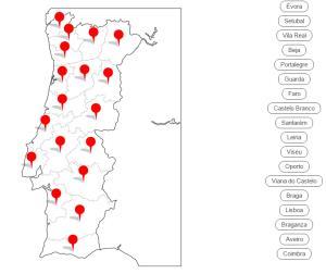 Distritos de Portugal (Cerebriti)