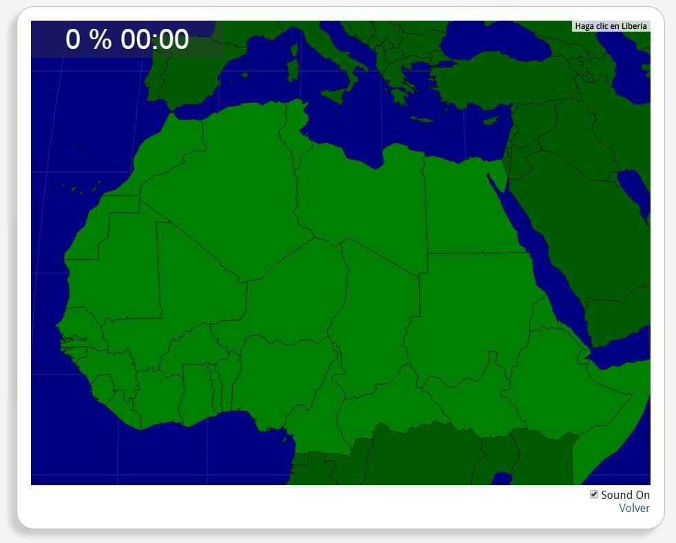 Africa del Nord: Nazioni. Seterra