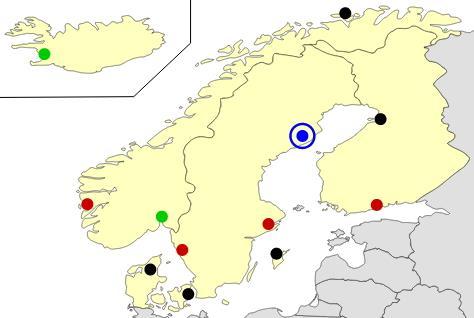 Nordic european cities map  (JetPunk)
