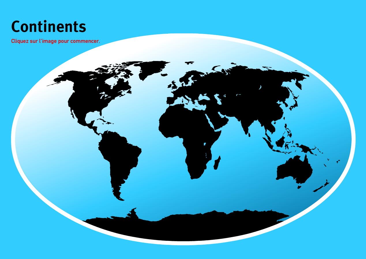 Continents du Monde. Jeux de Géographie