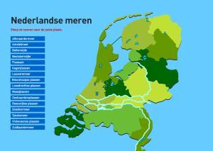 Nederlandse meren. Topografie van Nederland