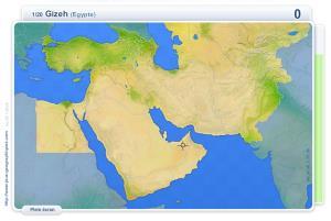 Villes du Moyen Orient, Caucase et Asie centrale. Jeux géographiques