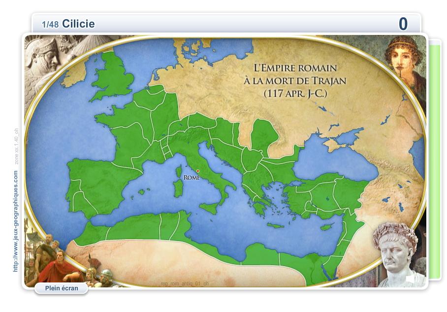 Provinces de l'Empire romain. Jeux historiques
