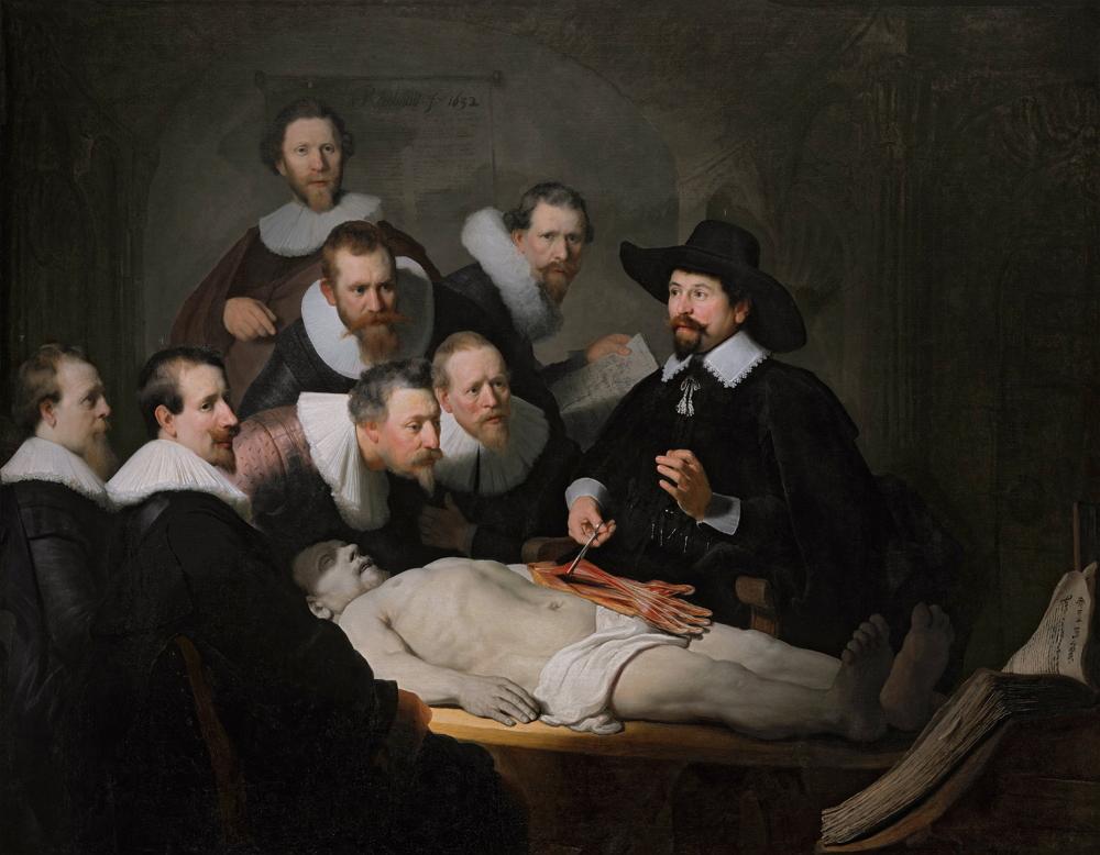 Lección de anatomía del Dr. Nicolaes Tulp,1632