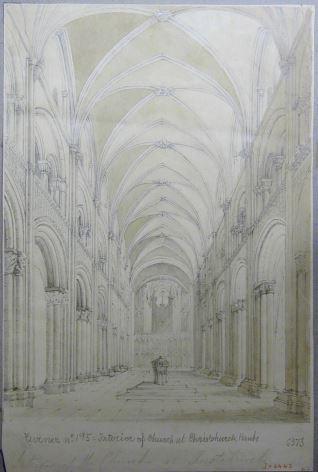 Interior de la iglesia de Christchurch (Inglaterra)
