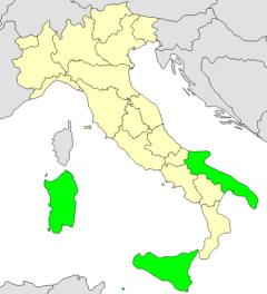 Regions of Italy and their capitals (JetPunk)