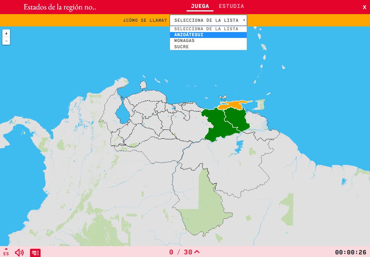 Stati della regione est de Venezuela