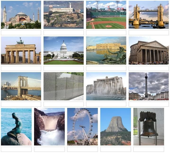 Picture of world landmarks 3 (JetPunk)