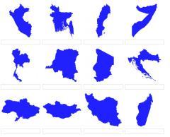 Formas de países del mundo 3 (JetPunk)