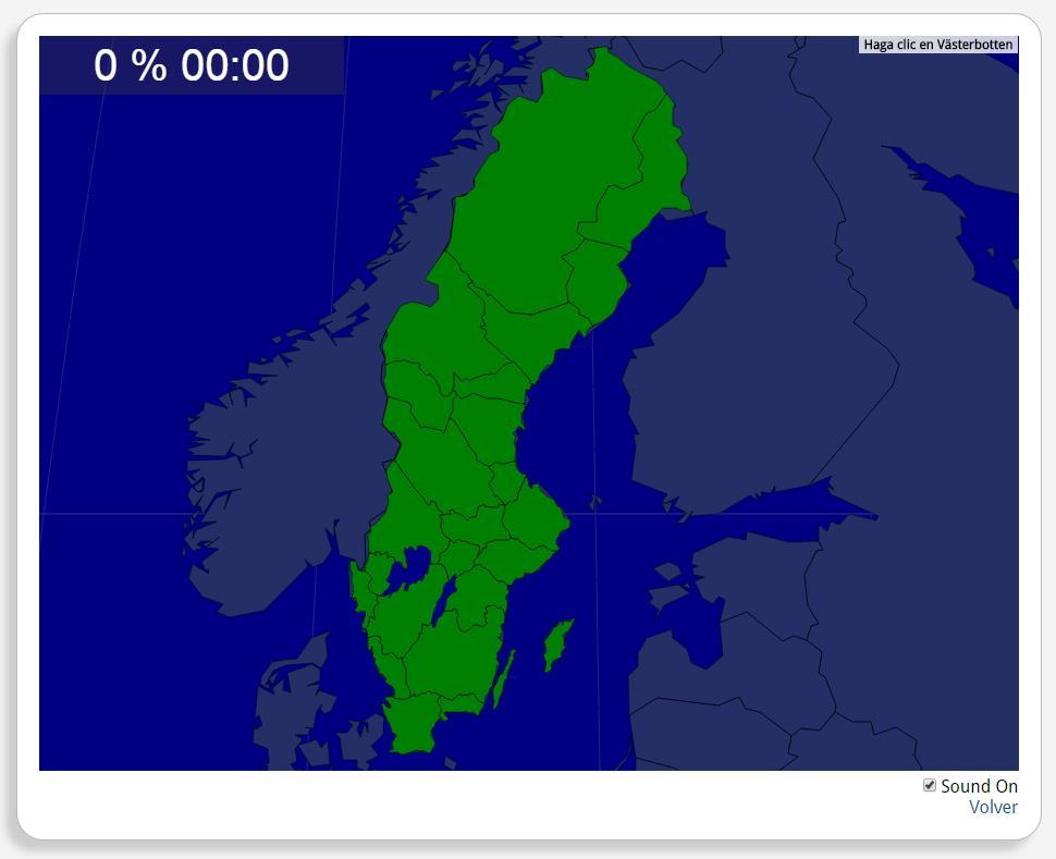 Suède : les provinces. Seterra