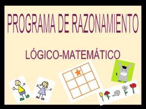 Programa de razonamiento lógico-matemático