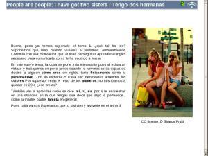 People are people: I have got two sisters / Tengo dos hermanas