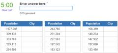 Biggest cities in Romania (JetPunk)
