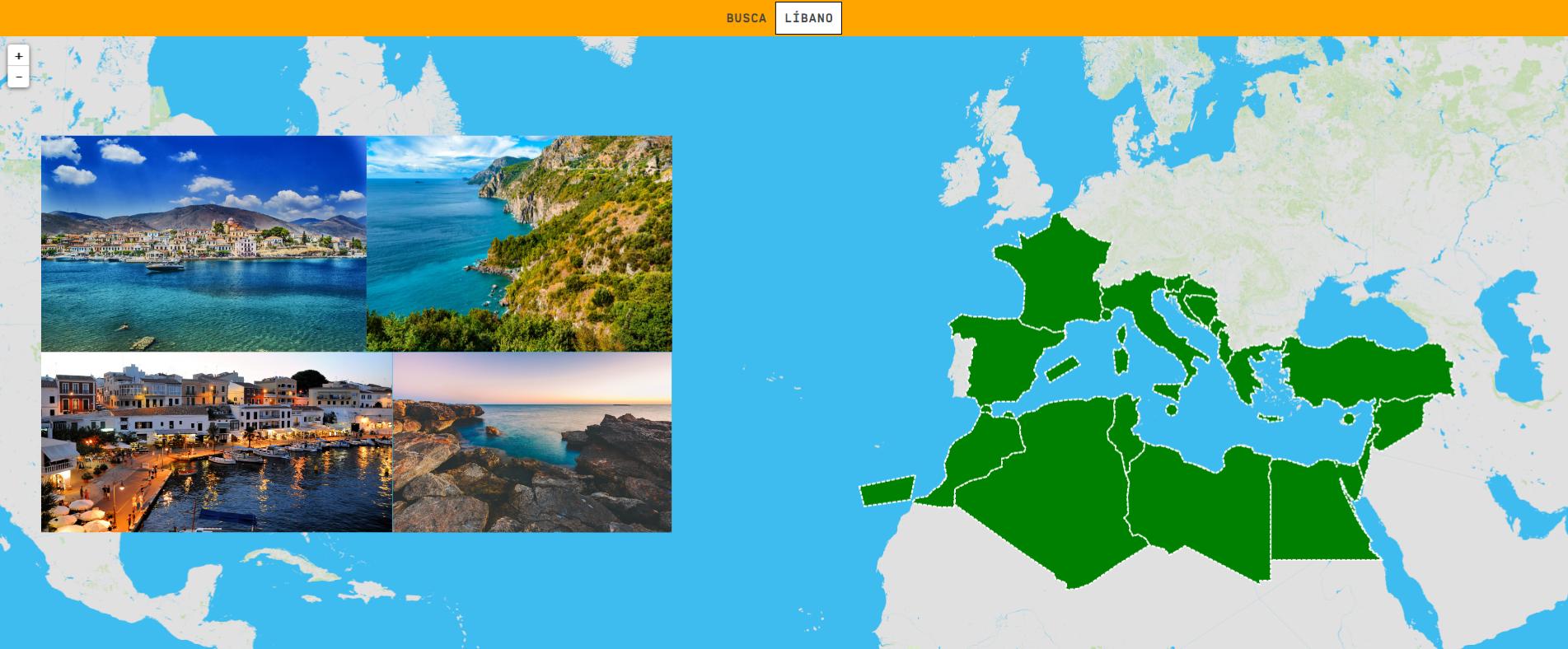 Mar Mediterrâneo: países