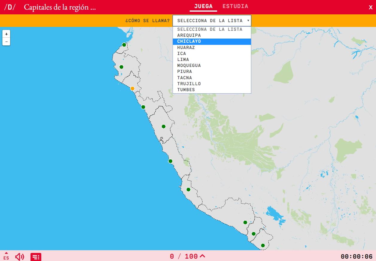 Abteilungen der KüstenKapitalle von Peru