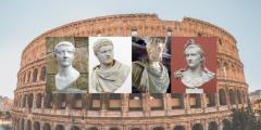 Empereurs romains (au milieu)
