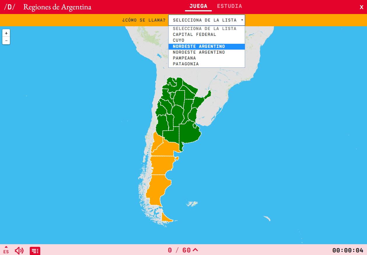 Regions d'Argentina