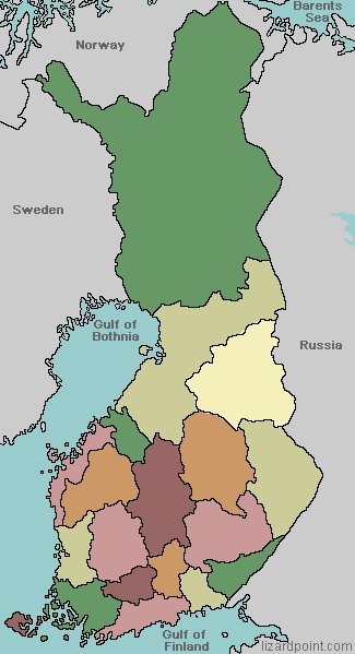 Regions of Finland. Lizard Point