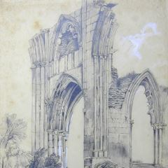 Ruinas de una abadía inglesa (Inglaterra)