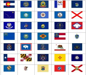 Flags of US states. Sporcle