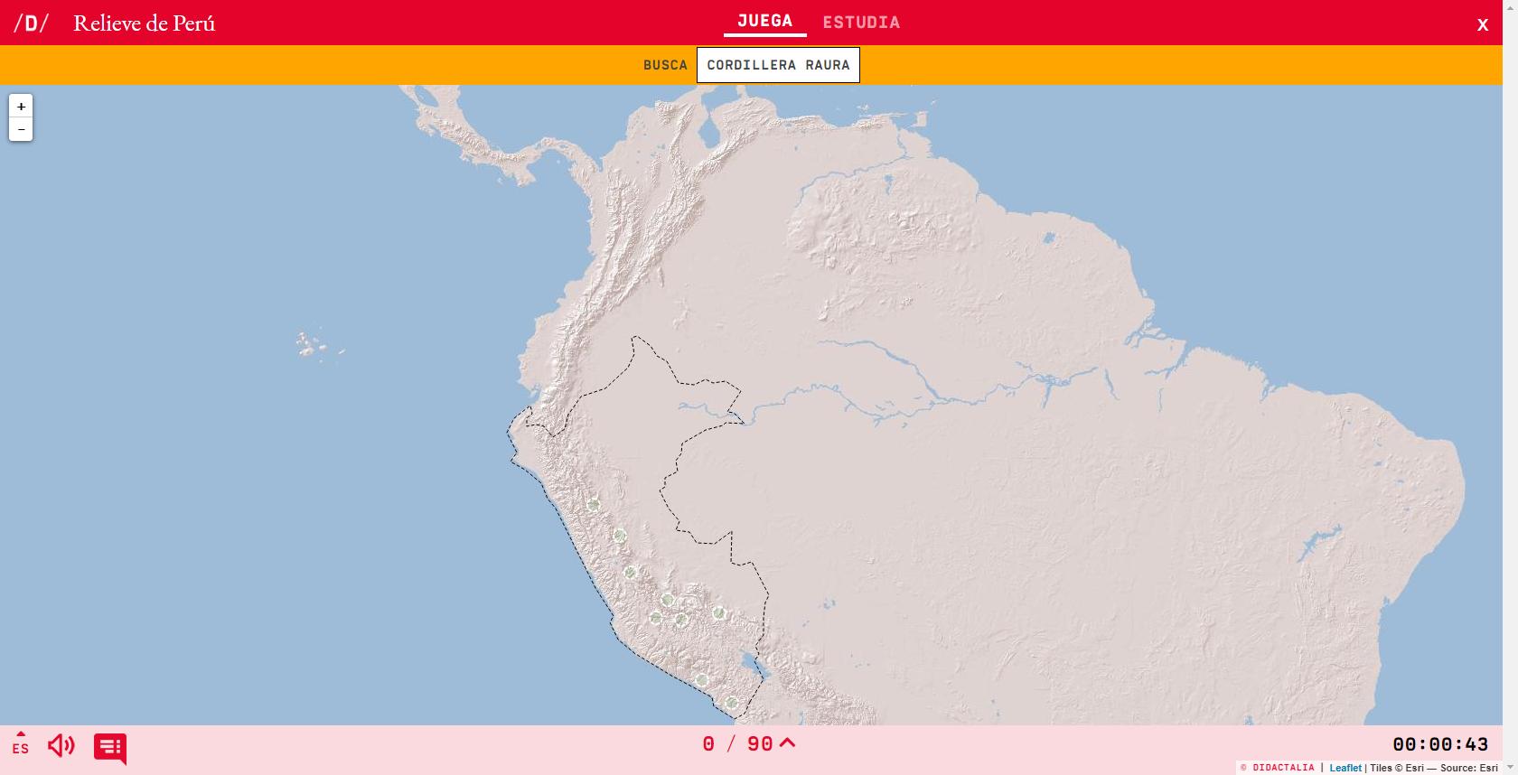 Relief du Pérou