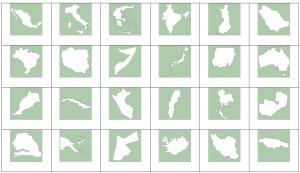 Outlines of world countries. Sporcle