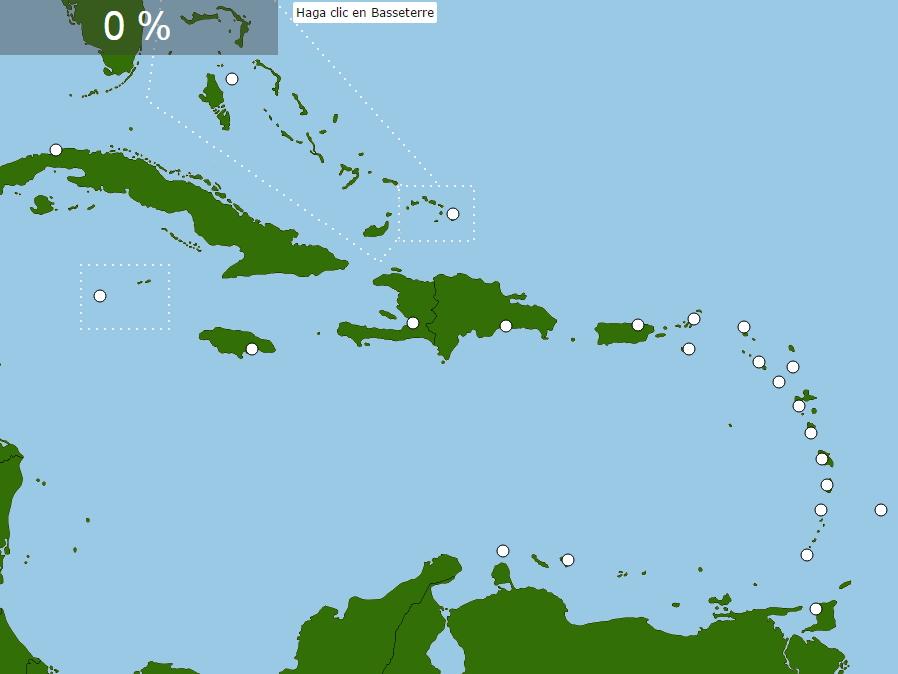 Capitales de El Caribe. Seterra