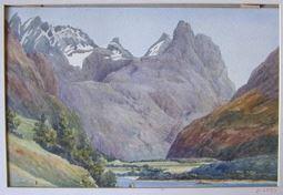 Vista de las montañas Romsdalshorn y Vengetinder, Noruega