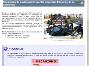 Transmisión de movimiento: Elementos mecánicos transmisores de movimiento