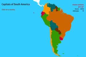Capitals of South America. World Geography Games