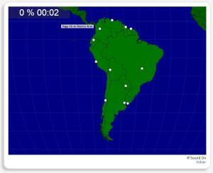 Amérique du Sud : les capitales. Seterra