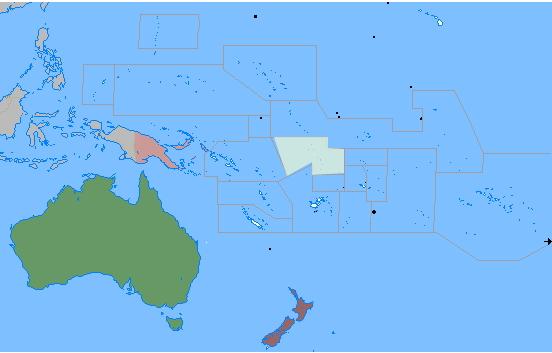 Islands of Oceania. Lizard Point