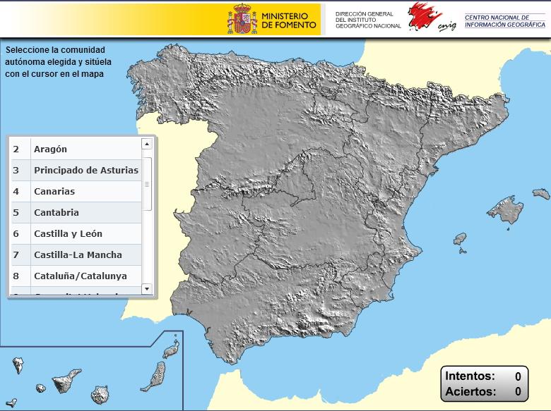 Autonomías de España. Puzzle (IGN)