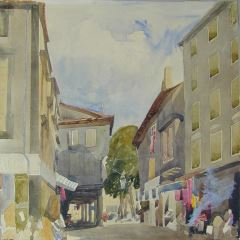 Calle en Carcassone (Francia)