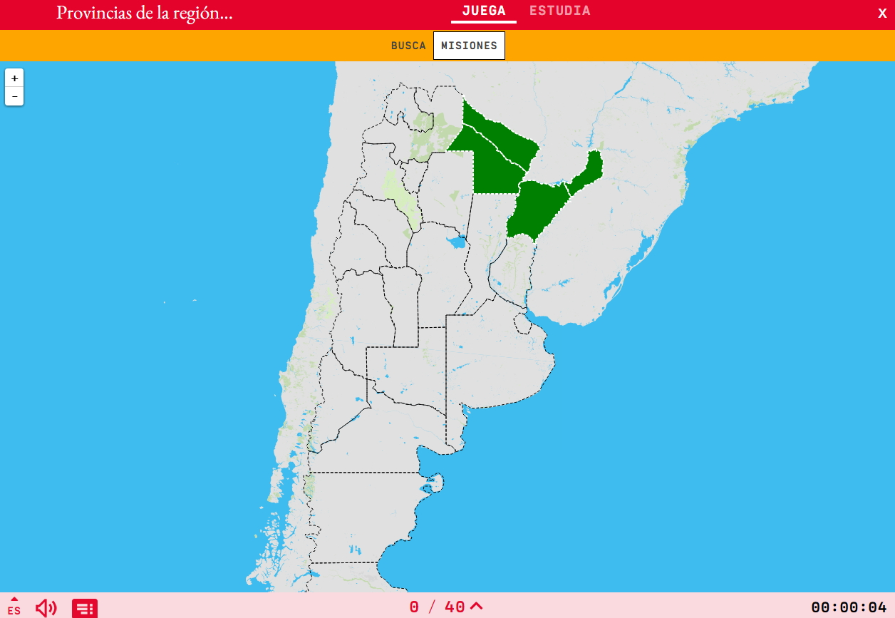 Provinces of the region northeastern of Argentina