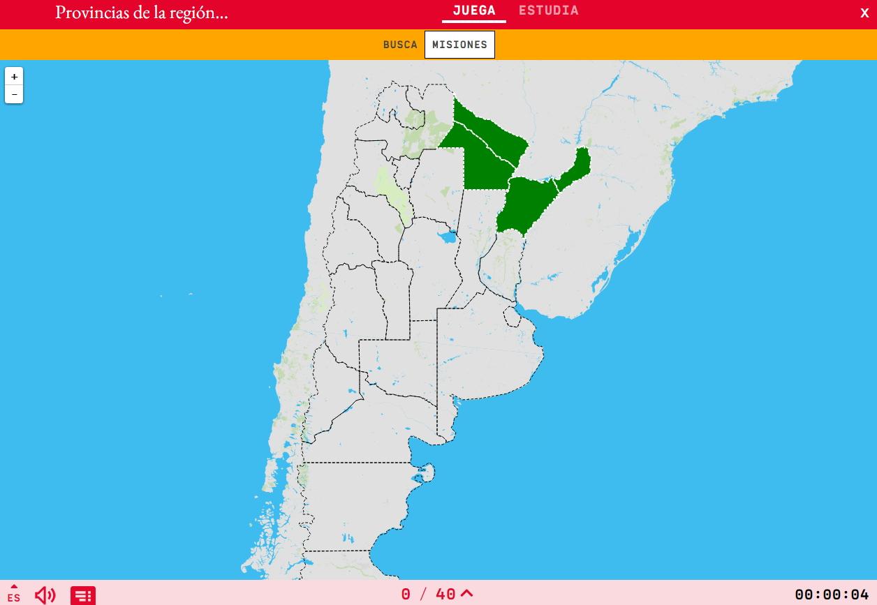 Provinces della regione nord-est del Argentina