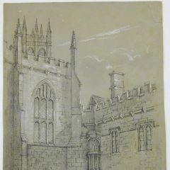 Vista del Magdalen College de Oxford (Inglaterra)
