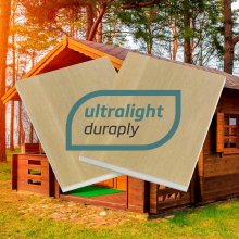 Ultralight Duraply, new, ultra-lightweight panel for outdoor use