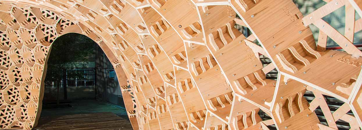 Bubble Pavilion, an interesting example of new timber-based architecture