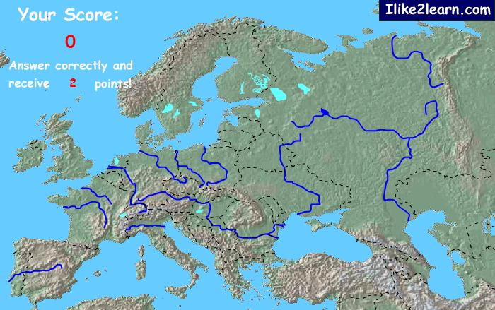 Rivers of Europe. Ilike2learn