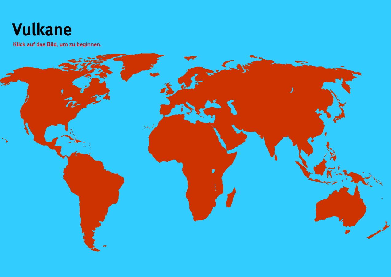 Vulkane der Welt. Welt-Quiz Geographie