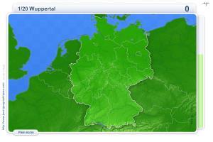 Villes d'Allemagne. Jeux géographiques